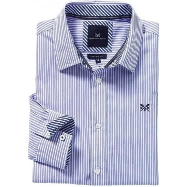 Crew Mens Classic Stripe Shirt in Periwinkle