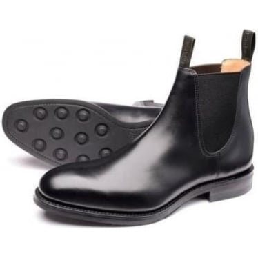 Mens Chatsworth Rubber Sole Boot in Black