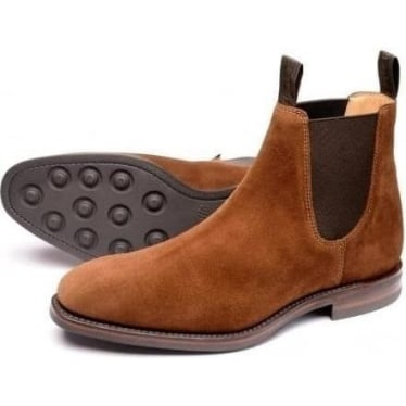 Mens Chatsworth Rubber Sole Boot in Brown Suede