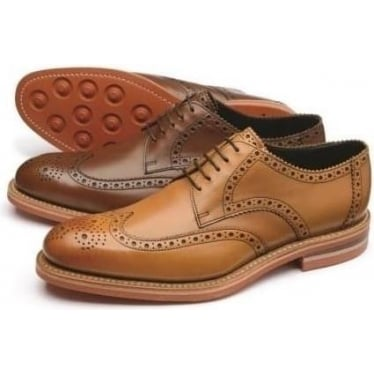 Mens Redgrave Brogue Derby in Tan