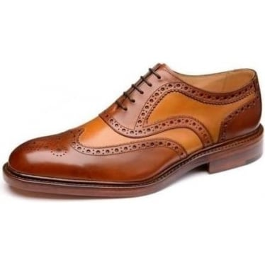 Mens Funnelweb Brogue Shoe in Brown