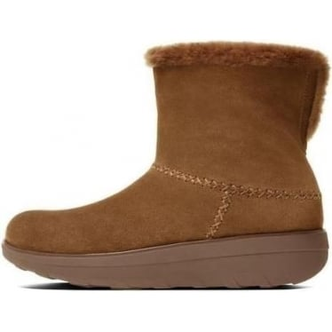 Fitflop Womens Mukluk Shorty II Boot In Chestnut