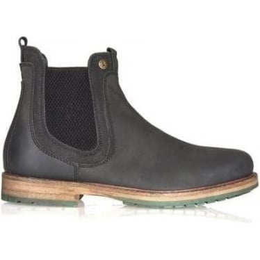 Barbour Mens Cullercoats Chelsea Boot in Black