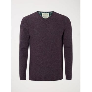 Mens Fade Out V Knit in Exmoor Purple