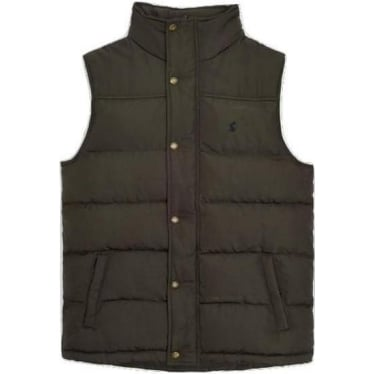 Mens Trail Padded Gilet in Black Olive