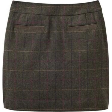 Womens Fearne Tweed Mini Skirt in Heather Check