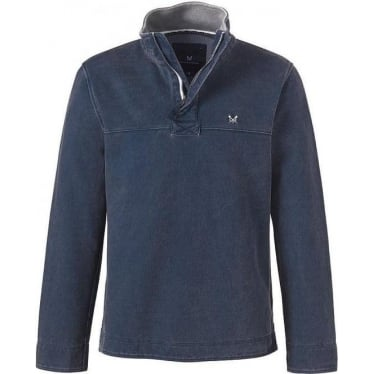 Mens Padstow Pique Sweat in Navy