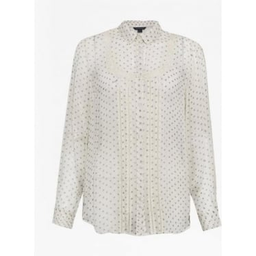Daisy Star Sheer Shirt In Classic Cream