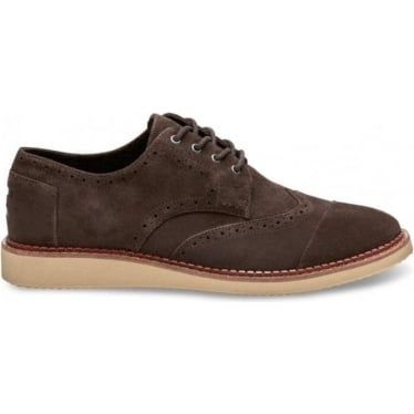 Mens Suede Brogues in Chocolate Brown