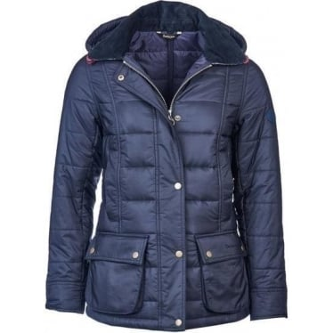 Womens Ilkley Quilted Jacket in Navy