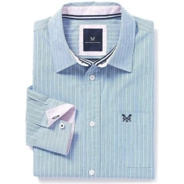 Mens Arnside Classic Fit Shirt in Marine Stripe