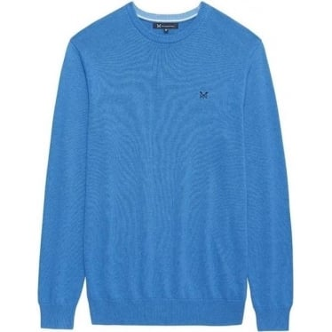 Mens Foxley Crew Neck in Lapis Blue Marl