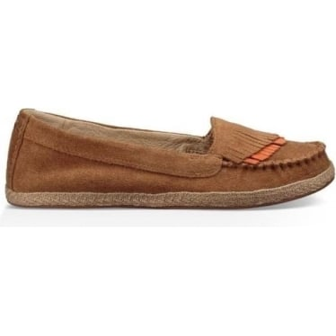 Womens Shiri Espadrille Shoe in Chestnut