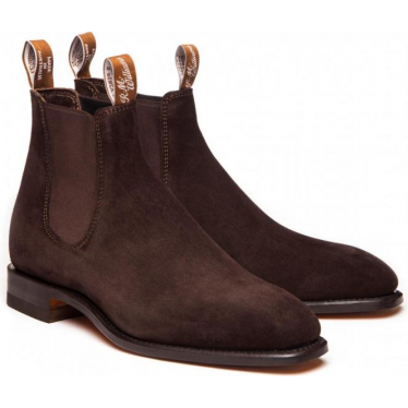 Suede Craftsman Boot in Chocolate
