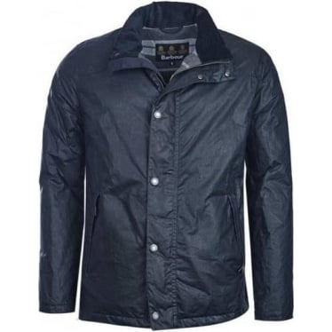 Mens Hilton Wax Jacket in Navy