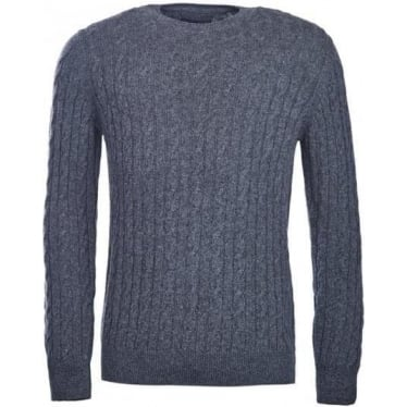 Mens Blanchland Crew Neck Jumper in Charcoal
