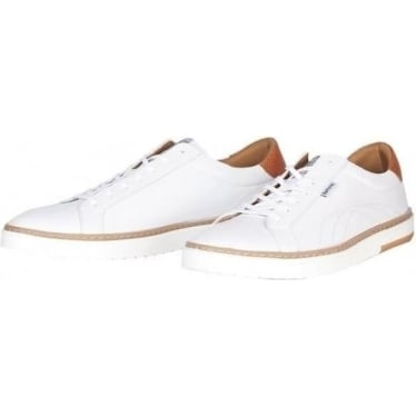 Mens Howdon Cupsole Trainer in White