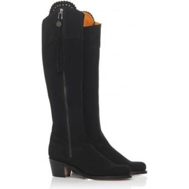 Womens Heeled Regina Boot in Black
