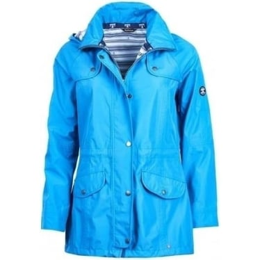 Barbour Womens Trevose Jacket in Beachcomber Blue