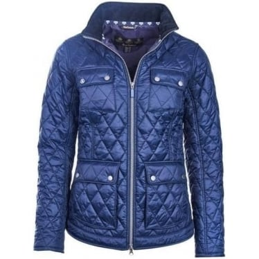 Womens Dolostone Quilted Jacket in Navy