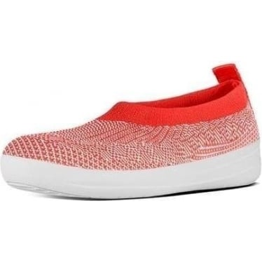 Womens Uberknit Slip-on Ballerina in Hot Coral/Neon Blush