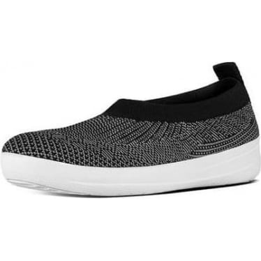 Womens Uberknit Slip-on Ballerina in Black/Charcoal