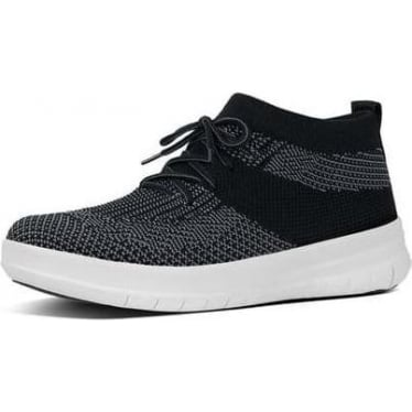 Womens Uberknit Slip-On High Top Sneaker in Black/Charcoal