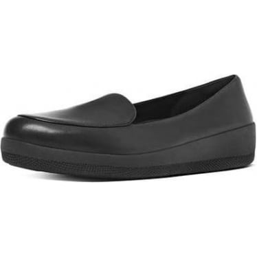 Womens Sneakerloafer Leather Shoes in All Black