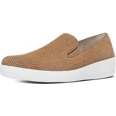 Womens Superskate Perf Suede Loafers in Soft Brown