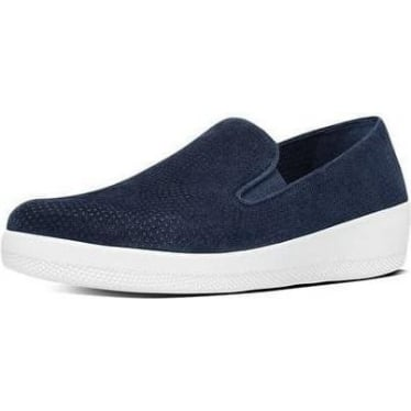 Womens Superskate Perf Suede Loafers in Midnight Navy