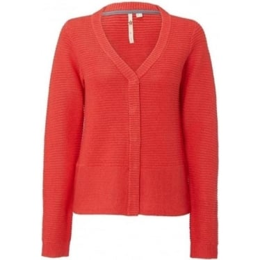 Womens Hyacinth Button Front Cardi in Spring Red