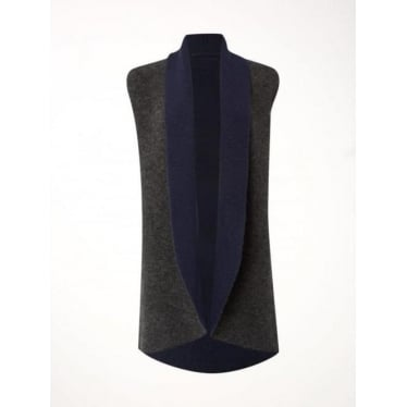 Womens Book End Reversable Cardi in Navy