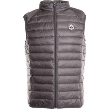 Mens Tom Gilet in Gris Anthracite