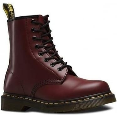 1460 8 Eyelet Boot in Cherry Red