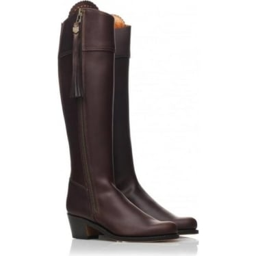 Womens Heeled Regina Boot in Mahogany