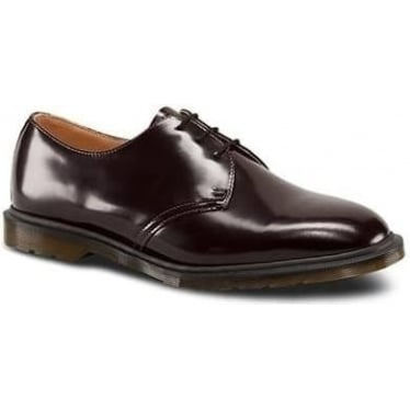 Dr. Martens Archie Polished Smooth Shoe in Oxblood
