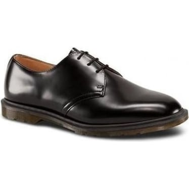 Archie Polished Smooth Shoe in Black