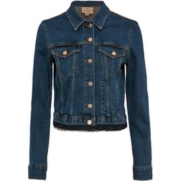 Womens Denim Neat Trucker Jacket in Tinted Vintage