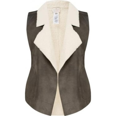 Womens Winter Rhoda Borg Gilet in Indian Tan