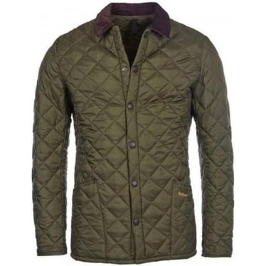 Mens Heritage Liddesdale Quilted Jacket in Olive