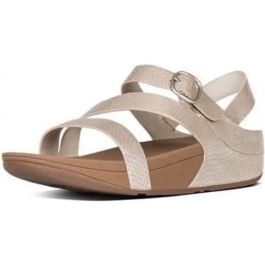 Fitflop Womens The Skinny Z-Strap Sandals in Silver Snake