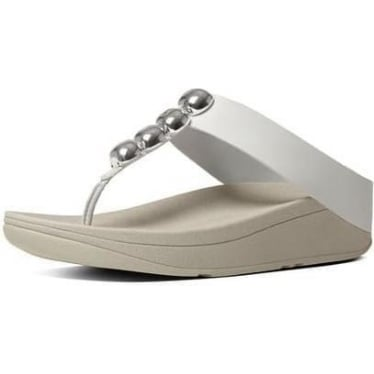 Womens Rola Leather Toe-Thong Sandal in Urban White