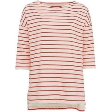 Womens Spring Tim Tim Striped Top in Classic Cream/Sunset Wave