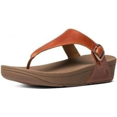 Womens The Skinny Toe-Thong Sandals in Tan
