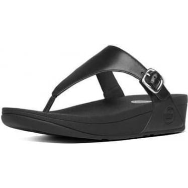 Womens The Skinny Toe-Thong Sandals in All Black