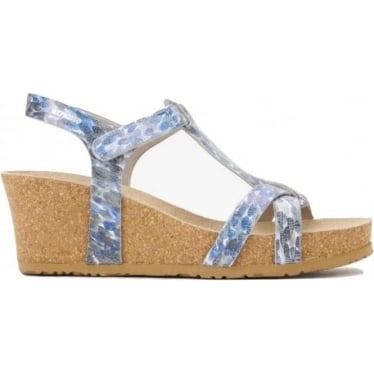 Womens Liviane Wedge in Light Grey