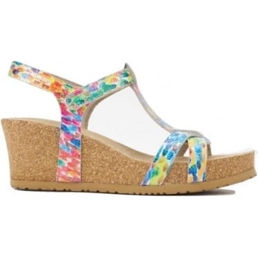 Womens Liviane Wedge in Multicolour Monet