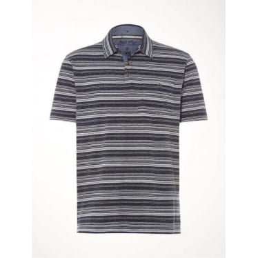 Mens Flight Stripe Polo in Prussian Navy