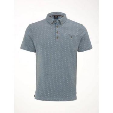 Mens Escape Polo in Chambray Blue
