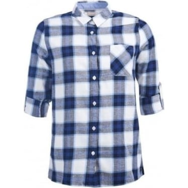 Womens Headland Check Shirt Blue